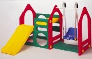 DS-702A Игровой центр Дом с горкой и качели малый Haenim Toys