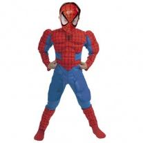 """I958-003 Костюм """"Человек-паук"""" с мускулами на руках и ногах и маской (8-10 лет/спинка 59см, бок.шов 92см) Cesar"""