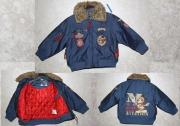 12009 Куртка с мехом синяя 2 года Disney