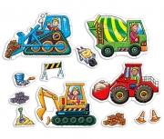 201 Развивающая игра - Пазлы «Большие колеса» +3 Orchard Toys