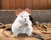 2219 Мягкая игрушка Белая мышь 20см Folkmanis
