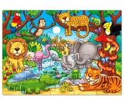 216 Развивающая игра - Пазл «Кто живет в джунглях?» +3 Orchar