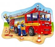 258 Развивающая игра - Напольный пазл «Большая пожарная машин