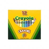 0012 12 разноцветных восковых мелков Crayola