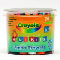 0784 24 восковых мелка для малышей (в бочонке) Crayola