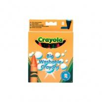 0878 8  больших смываемых восковых мелков Crayola