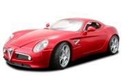18-11021 Alfa Romeo 8C  Bburago Машина Альфа Ромео 8С
