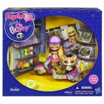 """21462 """"Кукла Блайс (11 см) на скутере"""" + 1 зверюшка из серии """"Маленький зоомагазин"""" Hasbro"""