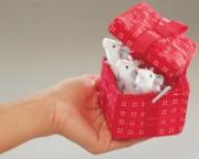 2218 Мягкая игрушка Мыши в красной коробке, 8см Folkmanis (Фолкм