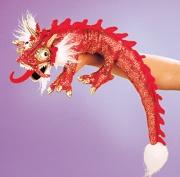 2357 Мягкая игрушка Дракон красный маленький, 51см Folkmanis