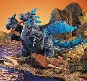 2387 Мягкая игрушка Дракон трехглавый голубой,25см Folkmanis (Фо