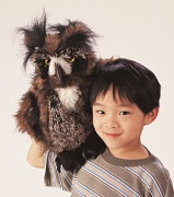 2403 Мягкая игрушка Рогатая сова, 46см Folkmanis (Фолкманис)