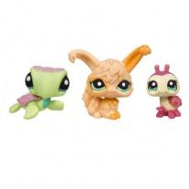 """25843/ast93664 Набор из 3-х зверушек серии """"Маленький зоомагазин"""" Littlest Pet Shop. Божья коровка, ангорский кролик и черепашка Hasbro"""