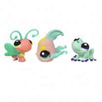 """25845/ast93664 Набор из 3-х зверушек серии """"Маленький зоомагазин"""" Littlest Pet Shop. Бабочка, лягушка и рыба-ангел Hasbro"""