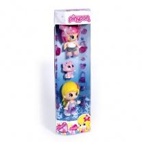 700007351 Набор в тубусе: 2 куклы Пинипон + питомец + аксессуары