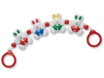 87190 Погремушка на коляску «Крольчата» Tolo Toys