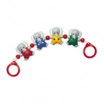 87240 Погремушка на коляску «Слоники» Tolo Toys