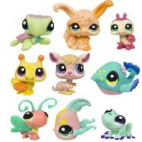 """93664 Набор из 3-х зверушек серии """"Маленький зоомагазин"""" Littlest Pet Shop Hasbro"""