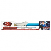 94180/ast94177 SW Войны Клонов. Световой Меч  (электронный). Синий(Скайуокер) Hasbro