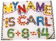 964 Цветные буквы и цифры на шнурках + мозаика Quercetti