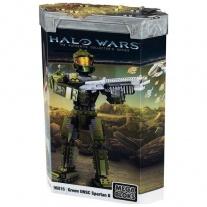 """96816 Фигурка воина Spartan II в зелёной броне из серии """"Halo"""" M"""
