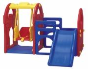 HN-708 игровой центр Дом с горкой и качели Haenim Toys