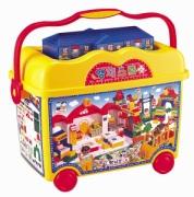 """HN-914 Конструктор в контейнере 314 деталей """"Школа"""" Haenim Toys"""