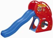 """HNP-716 Горка """"Дельфин"""" с баскетбольным кольцом Haenim Toys"""