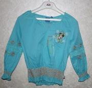 10071 Блуза голубая, хлопок 3,5 лет Disney