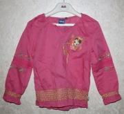 10071 Блуза розовая, хлопок 6 лет Disney