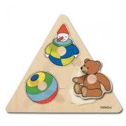 10121 Развивающая игра деревянная Пазл-вкладыш «Игрушки» (от 1 года)