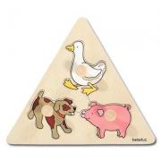 10123 Развивающая игра деревянная Пазл-вкладыш «Животные» (от 1 года)