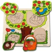 10125 Развивающая игра деревянная Пазл-вкладыш «Дерево» (от 1 года)