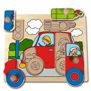 10126 Развивающая игра деревянная Пазл-вкладыш «Машина» (от 1 года)