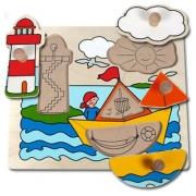 10127 Развивающая игра деревянная Пазл-вкладыш «Парусная лодка»