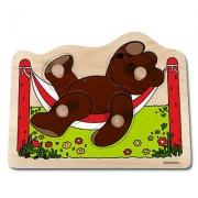 10129 Развивающая игра деревянная Пазл-вкладыш «Медвежонок» (от 1 года)