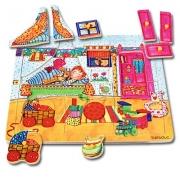 10131 Развивающая игра деревянная Пазл-вкладыш «Детская комната»