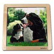10134 Развивающая игра деревянная Пазл в рамке «Собака» (от 3 лет)