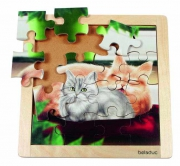 """10135 - Пазл  в  рамке  """"Кошка""""  Beleduc"""
