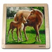 10136 Развивающая игра деревянная Пазл в рамке «Лошадь» (от 3 лет)
