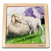 10137 Развивающая игра деревянная Пазл в рамке «Овечка» (от 3 лет)