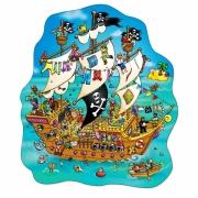 228 Развивающая игра - Напольный пазл «Пиратский корабль» +6