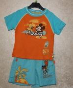 10281 Фуфайка +шорты микки желто/оранж. 6,8 лет.