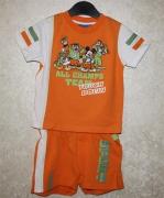 10379 Футболка +шорты оранж. 2,4 года Disney
