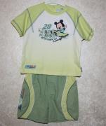 10814 Футболка +шорты зел. 18, 23 мес.Disney