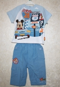 10899 Футболка +брюки голуб. 12 мес. Disney