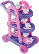14000 Сервировочный столик с посудой для чаепития American Plastic Toys
