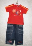 14784 Джинсы +футболка Тачки красн. 12,18,23 мес, Disney