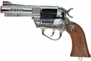 """1513 Пистолет игрушечный детский металлический """"Тритон"""" серебристый Villa"""