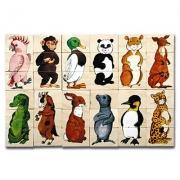 16108 Развивающая игра деревянная Пазлы «Зверята» (от 4 лет)
